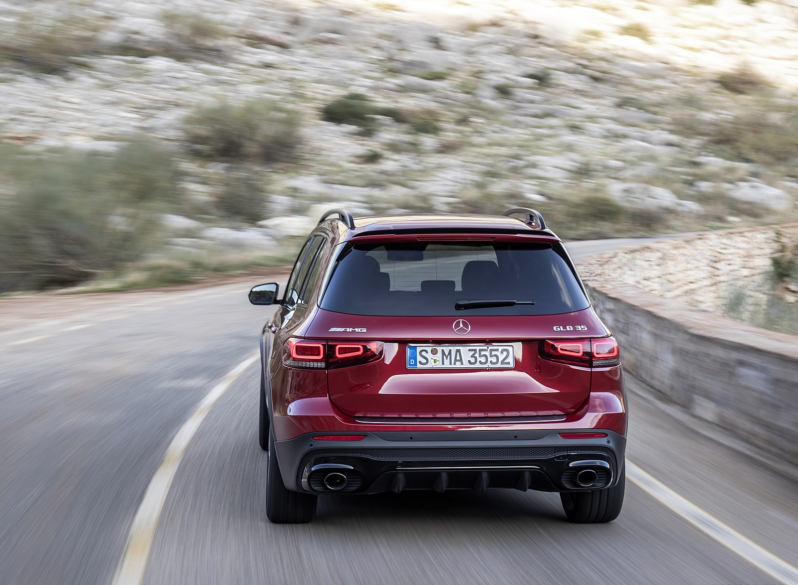 2021 Mercedes-AMG GLB 35 4MATIC (Color: Designo Patagonia Red Metallic) Rear Wallpapers (8)