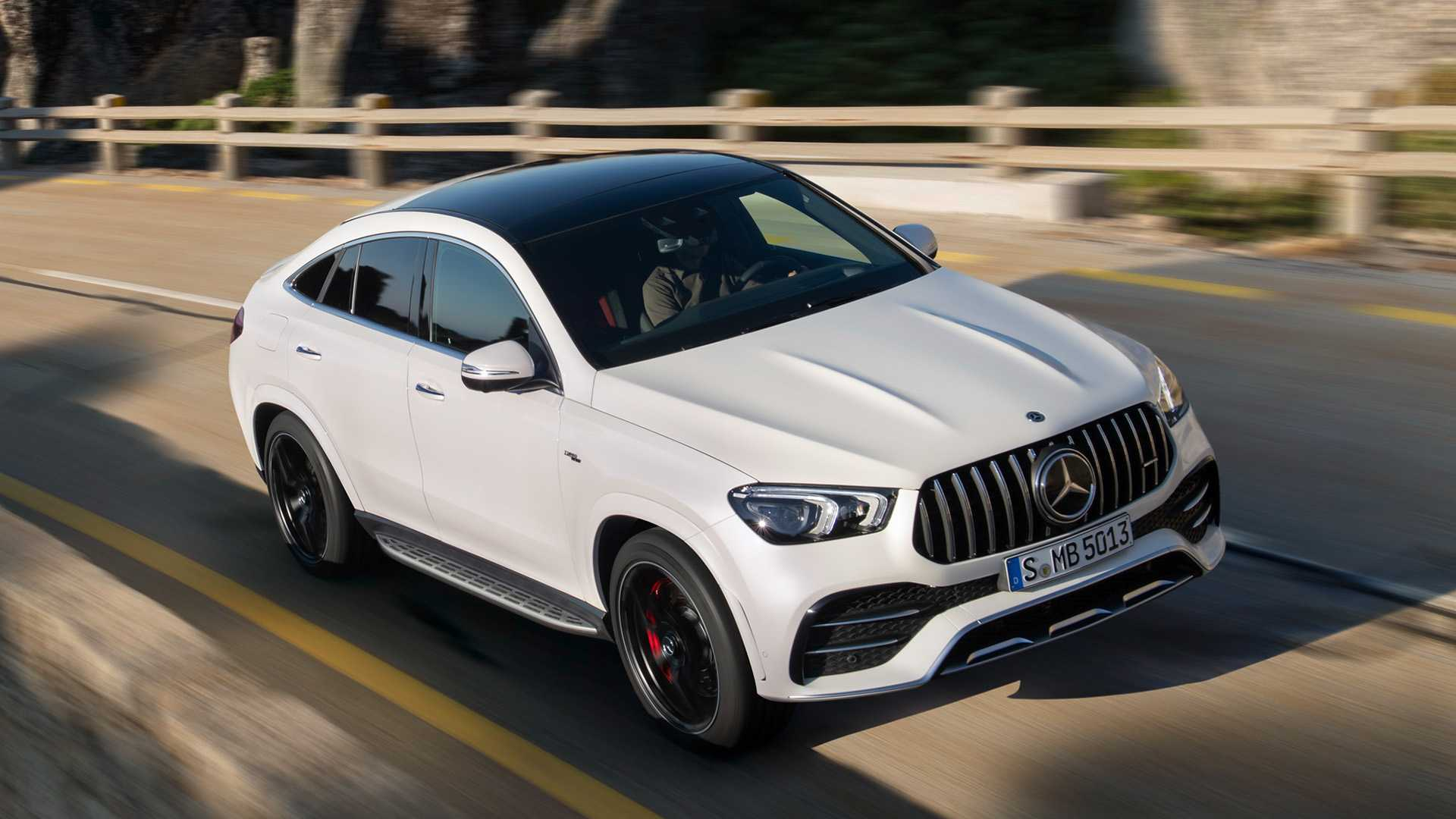 2021 Mercedes-AMG GLE 53 Coupe 4MATIC+ (Color: Designo Diamond White Bright) Front Wallpapers (1)