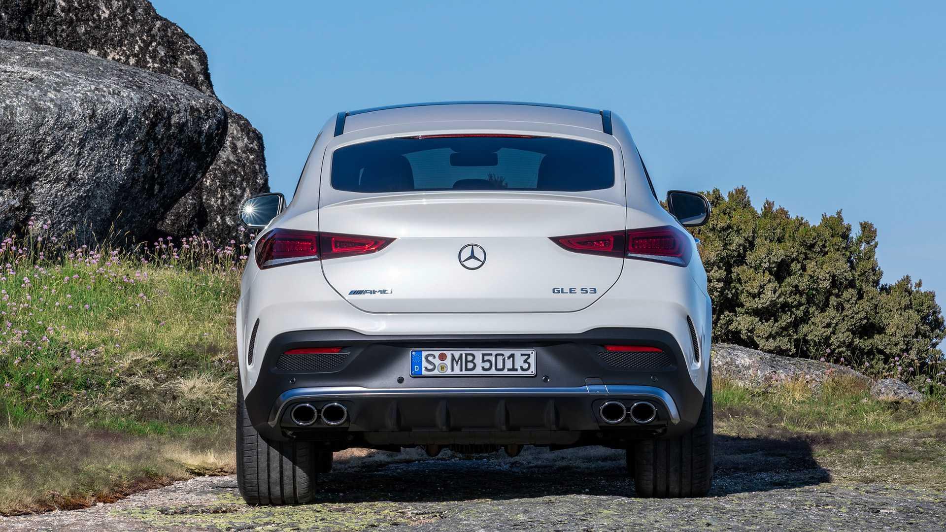 2021 Mercedes-AMG GLE 53 Coupe 4MATIC+ (Color: Designo Diamond White Bright) Rear Wallpapers (13)