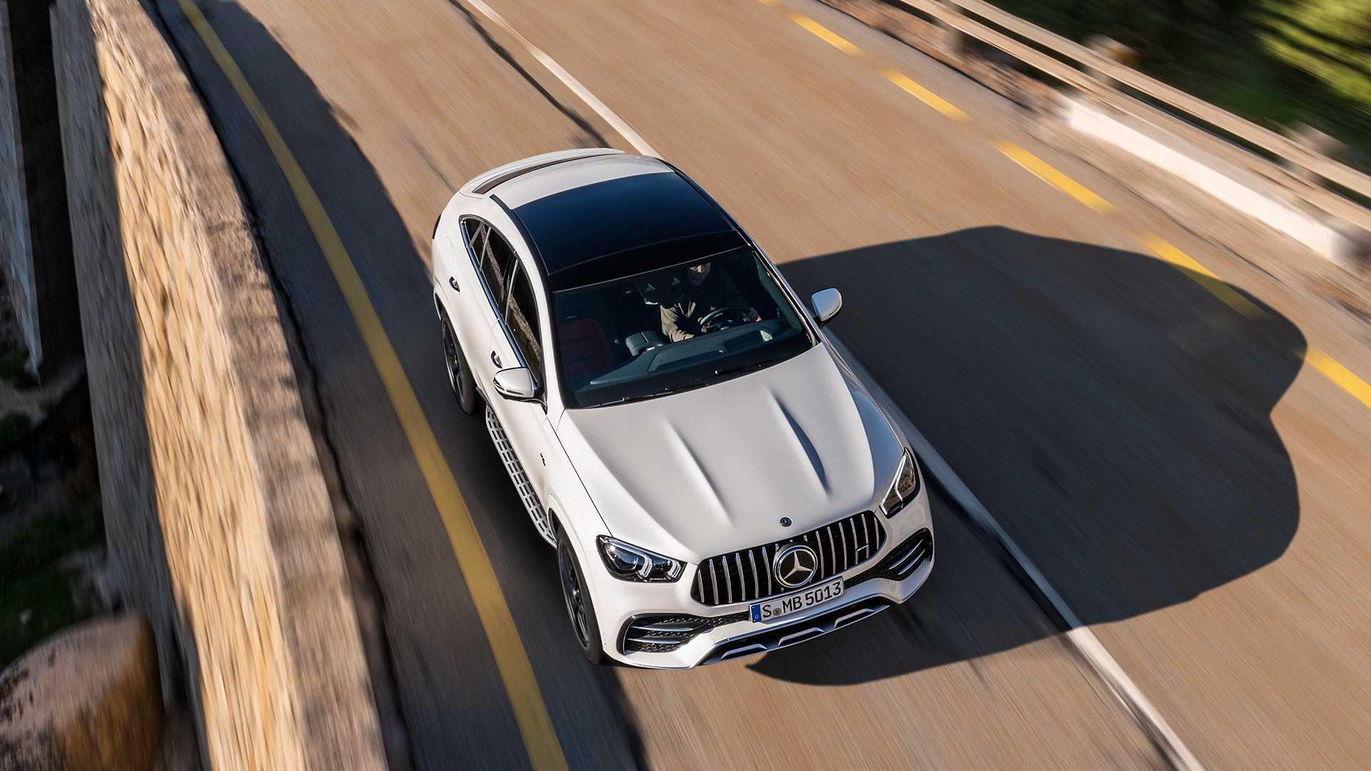 2021 Mercedes-AMG GLE 53 Coupe 4MATIC+ (Color: Designo Diamond White Bright) Top Wallpapers (9)