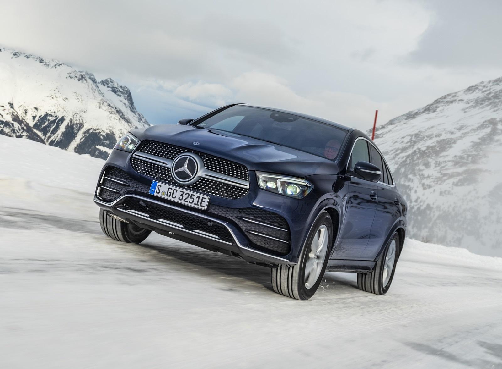 2021 Mercedes-Benz GLE Coupe 350 de 4MATIC Coupe (Color: Cavansite Blue Metallic Diesel Plug-In Hybrid) Front Three-Quarter Wallpapers (7)