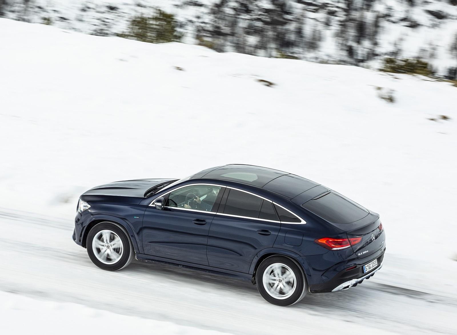 2021 Mercedes-Benz GLE Coupe 350 de 4MATIC Coupe (Color: Cavansite Blue Metallic Diesel Plug-In Hybrid) Rear Three-Quarter Wallpapers (8)