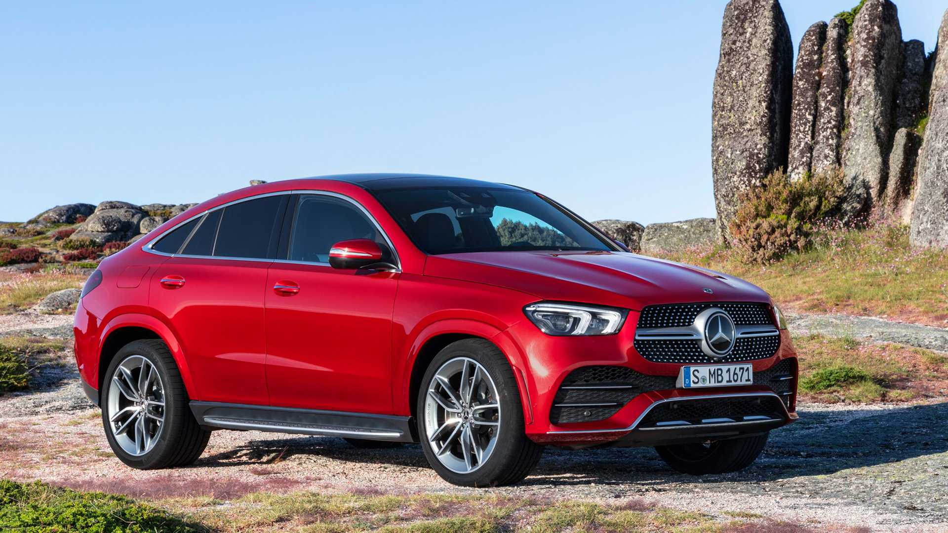 2021 Mercedes-Benz GLE Coupe (Color: Designo Hyacinth Red Metallic) Front Three-Quarter Wallpapers (11)