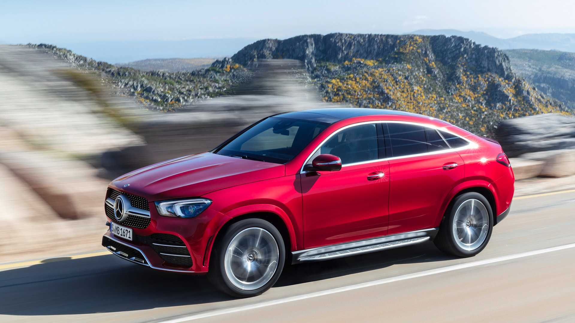 2021 Mercedes-Benz GLE Coupe (Color: Designo Hyacinth Red Metallic) Front Three-Quarter Wallpapers (2)