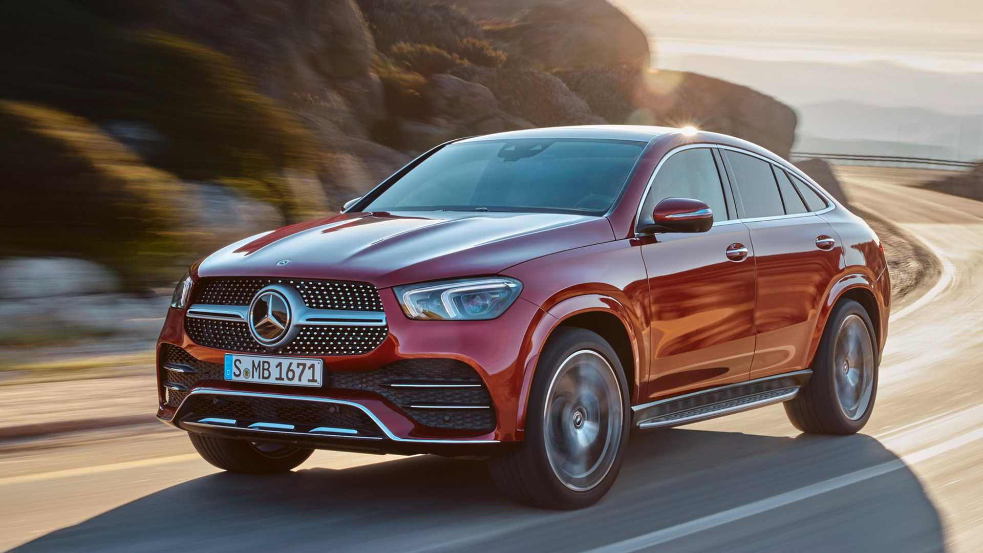 2021 Mercedes-Benz GLE Coupe (Color: Designo Hyacinth Red Metallic) Front Three-Quarter Wallpapers (3)
