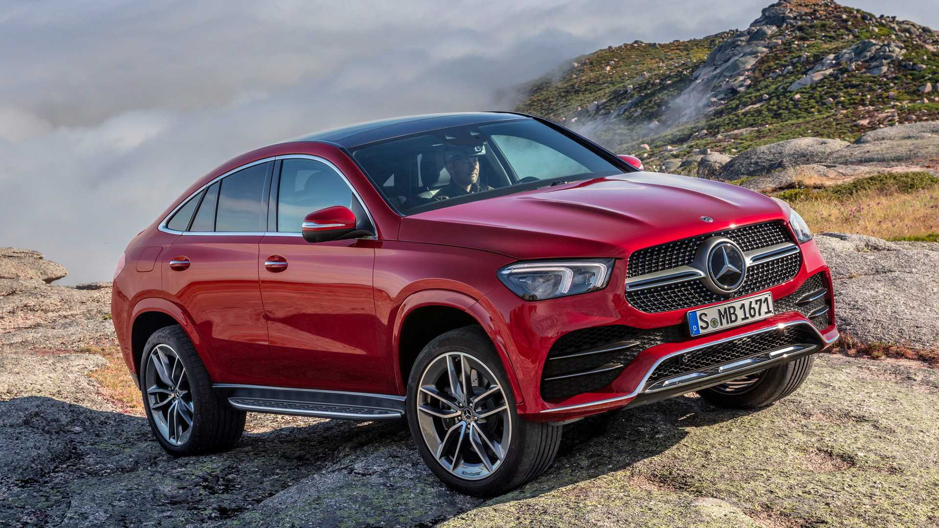2021 Mercedes-Benz GLE Coupe (Color: Designo Hyacinth Red Metallic) Front Three-Quarter Wallpapers (12)