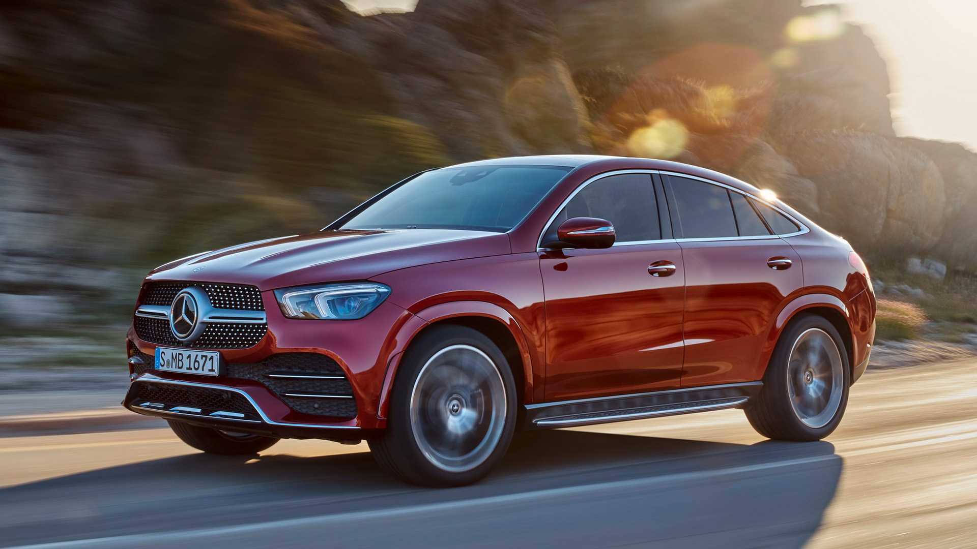 2021 Mercedes-Benz GLE Coupe (Color: Designo Hyacinth Red Metallic) Front Three-Quarter Wallpapers (4)