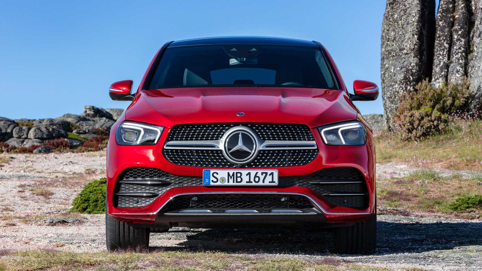 2021 Mercedes-Benz GLE Coupe (Color: Designo Hyacinth Red Metallic) Front Wallpapers (13)