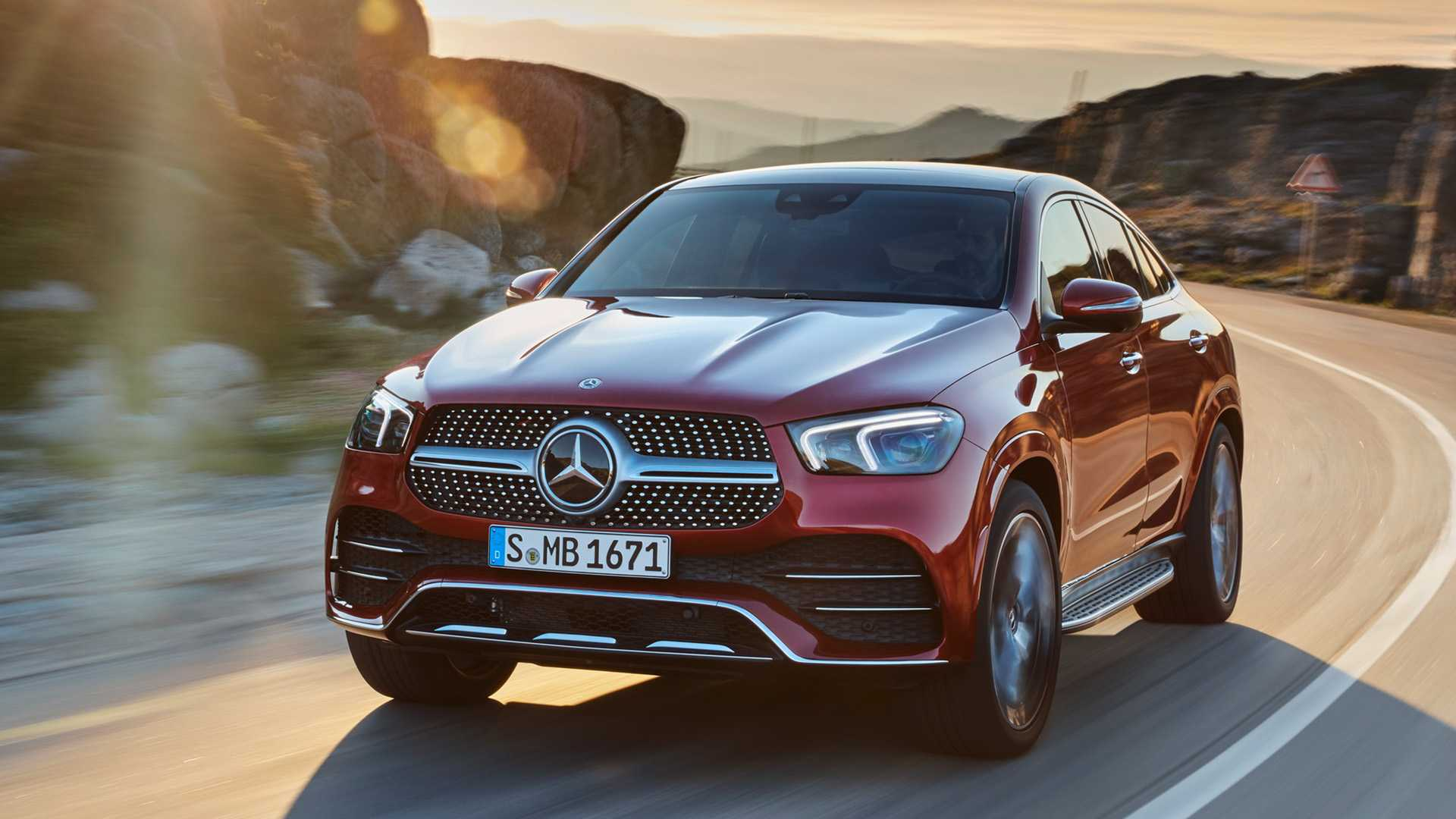 2021 Mercedes Benz Gle Coupe Color Designo Hyacinth Red Metallic Front Wallpapers 29 Newcarcars