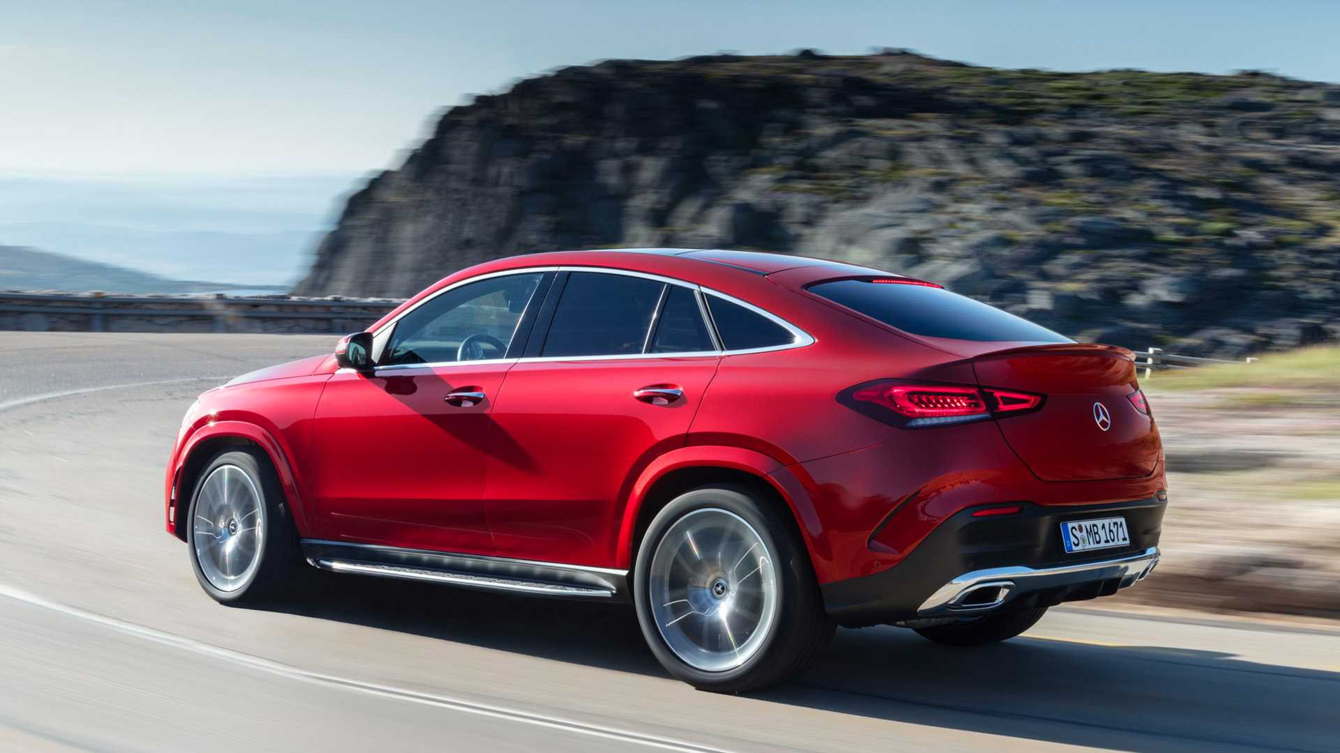2021 Mercedes-Benz GLE Coupe (Color: Designo Hyacinth Red Metallic) Rear Three-Quarter Wallpapers (5)