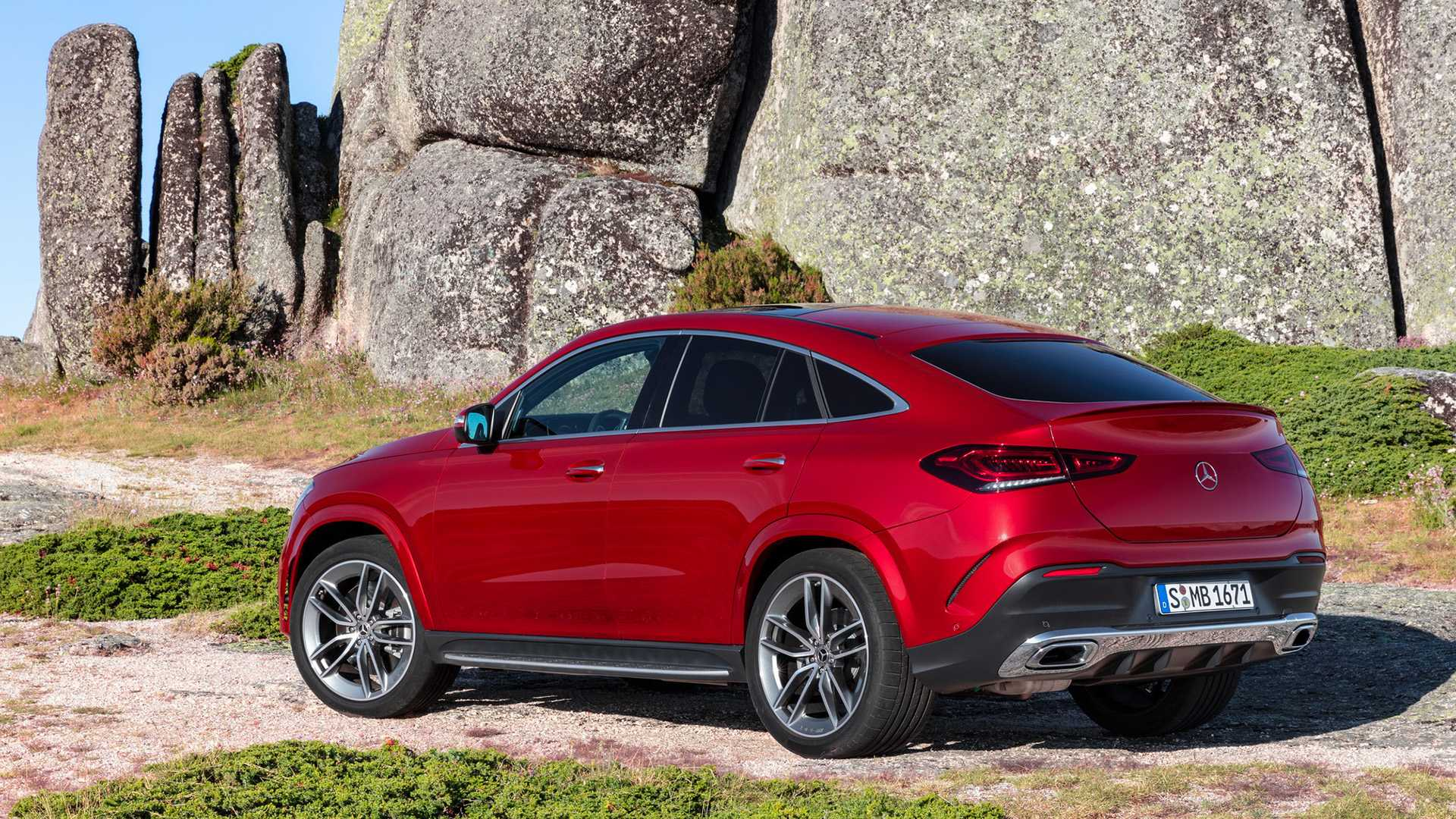 2021 Mercedes Benz Gle Coupe Color Designo Hyacinth Red Metallic Rear Three Quarter Wallpapers 42 Newcarcars