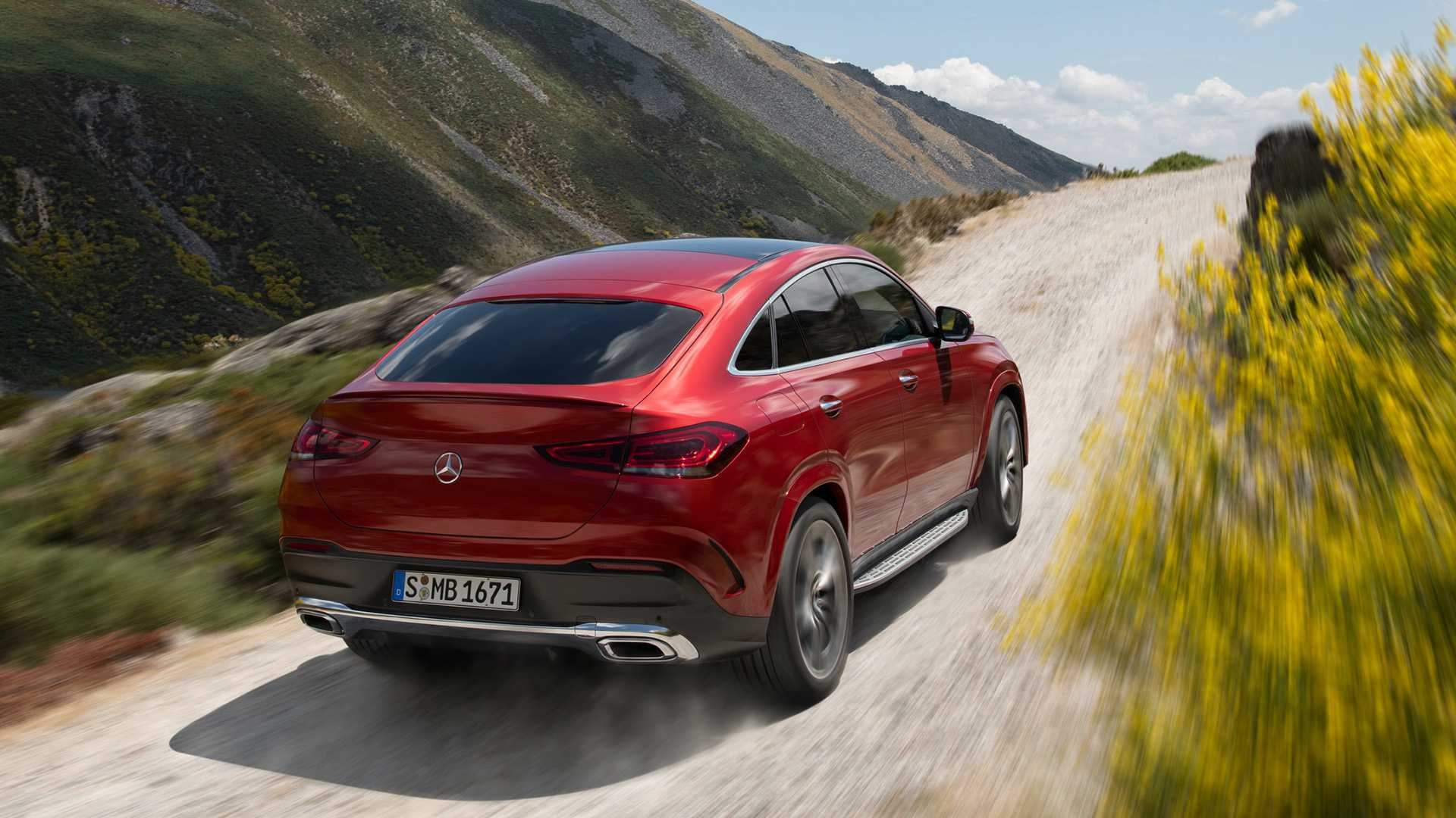 2021 Mercedes-Benz GLE Coupe (Color: Designo Hyacinth Red Metallic) Rear Three-Quarter Wallpapers (6)