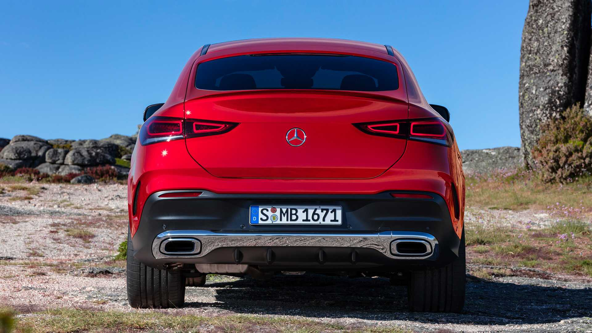 2021 Mercedes-Benz GLE Coupe (Color: Designo Hyacinth Red Metallic) Rear Wallpapers (15)