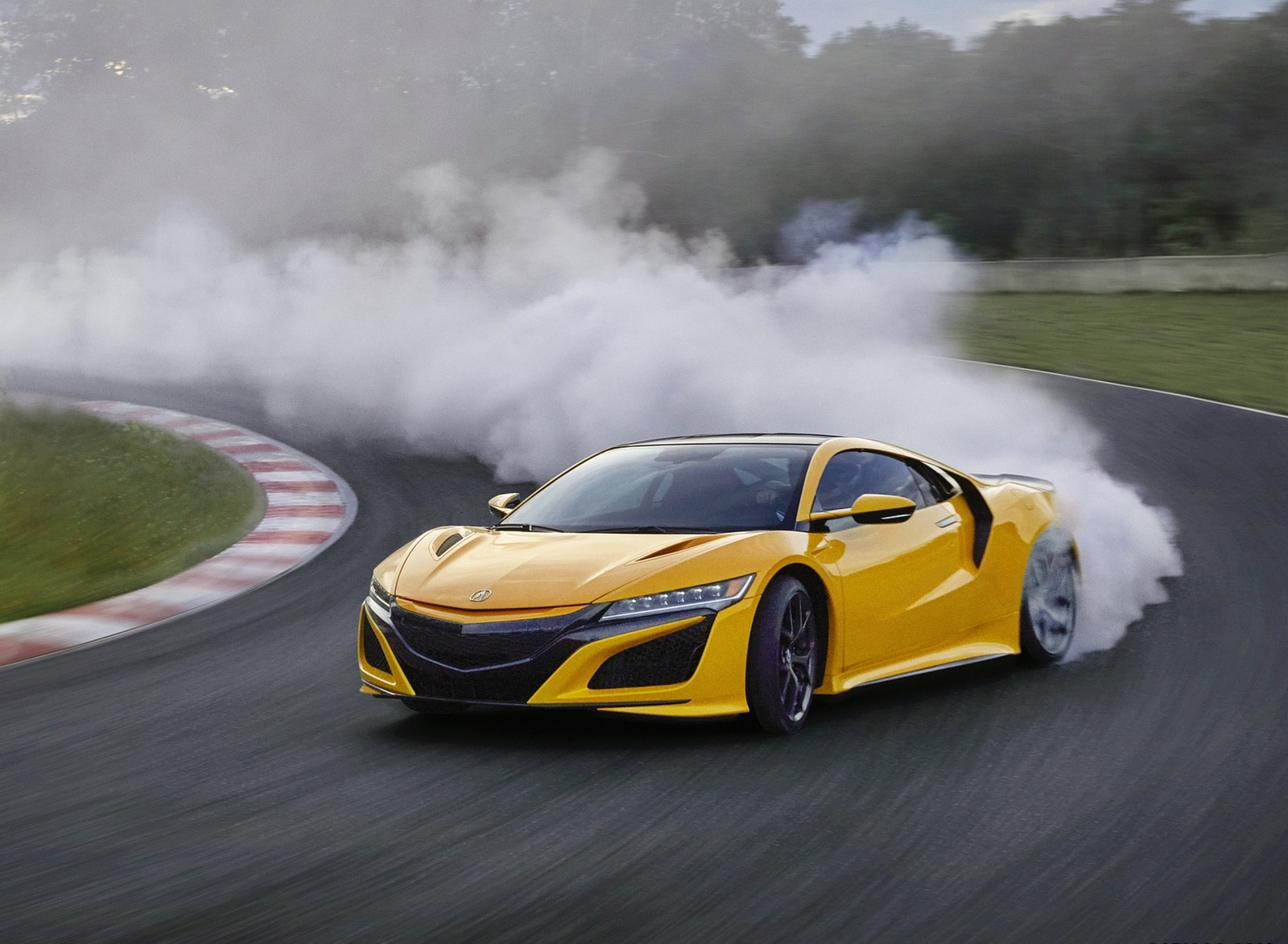 2020 Acura NSX (Color: Indy Yellow Pearl) Front Three-Quarter Wallpapers (1)
