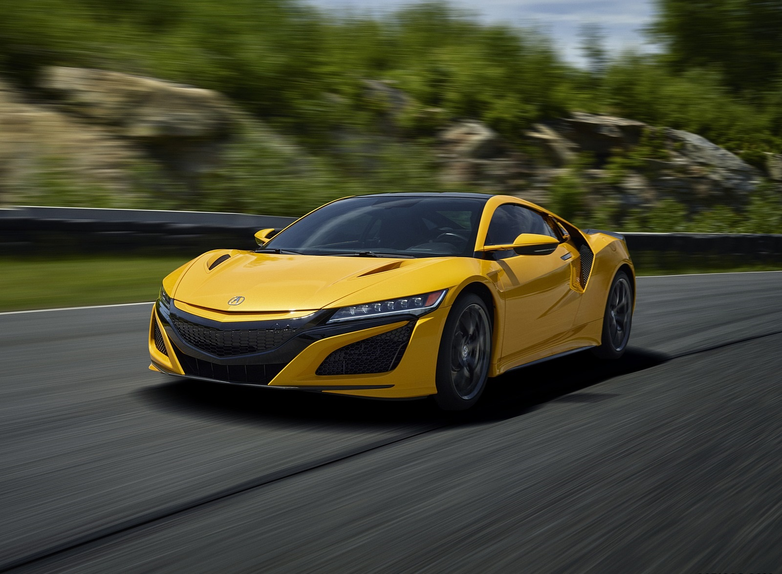2020 Acura NSX (Color: Indy Yellow Pearl) Front Three-Quarter Wallpapers (2)