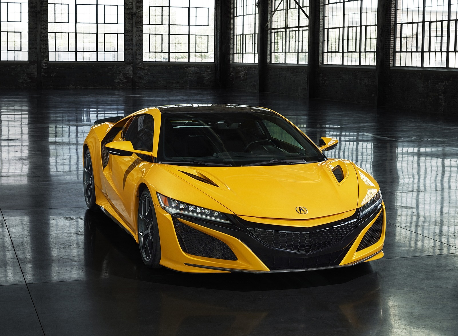 2020 Acura NSX (Color: Indy Yellow Pearl) Front Wallpapers (10)
