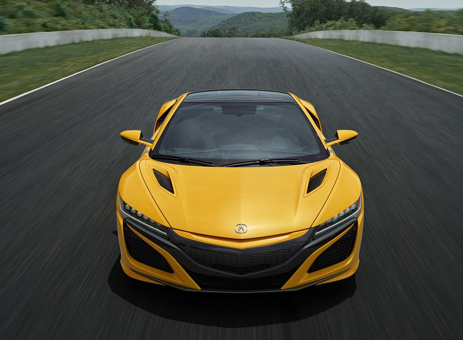 2020 Acura NSX (Color: Indy Yellow Pearl) Front Wallpapers (4)