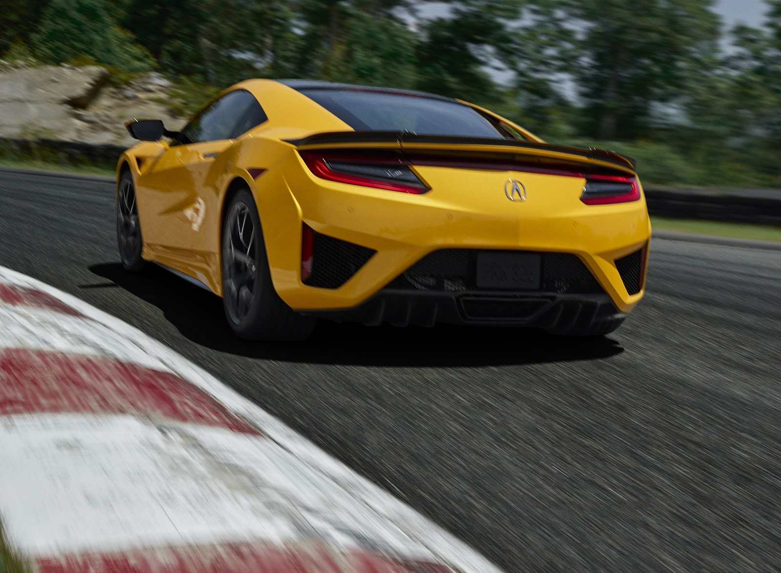 2020 Acura NSX (Color: Indy Yellow Pearl) Rear Three-Quarter Wallpapers (6)