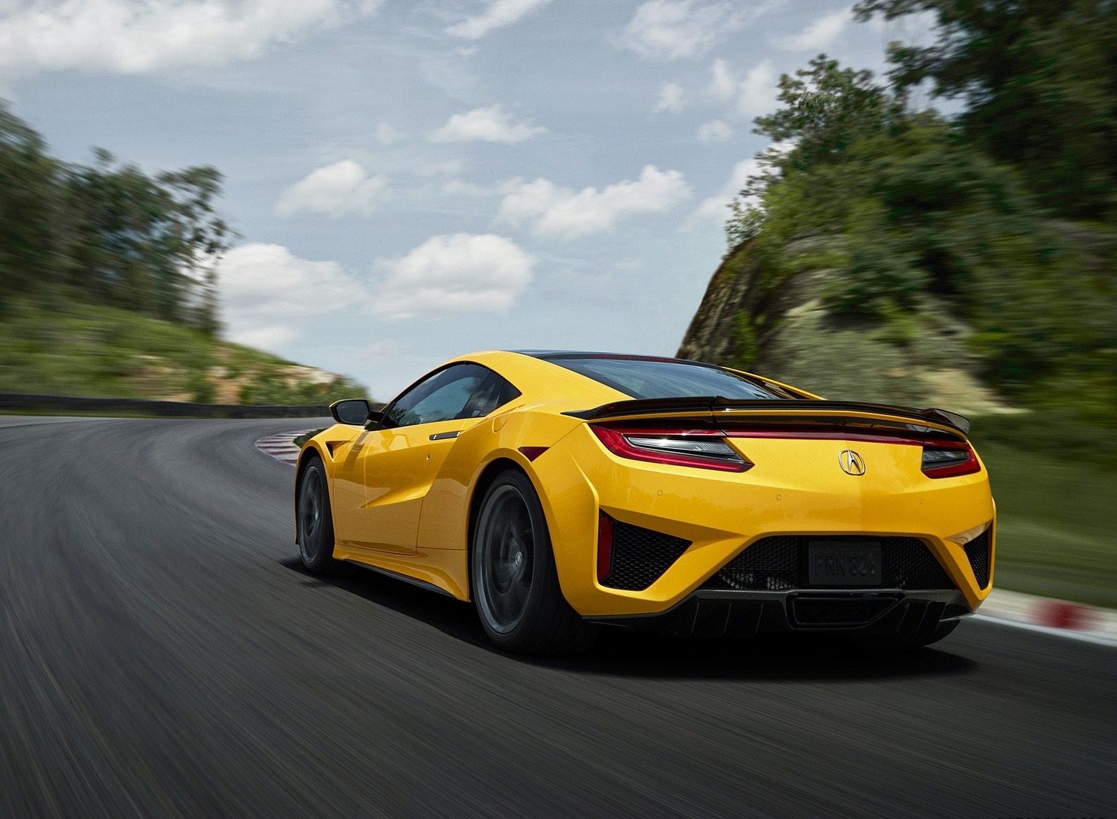 2020 Acura NSX (Color: Indy Yellow Pearl) Rear Three-Quarter Wallpapers (7)