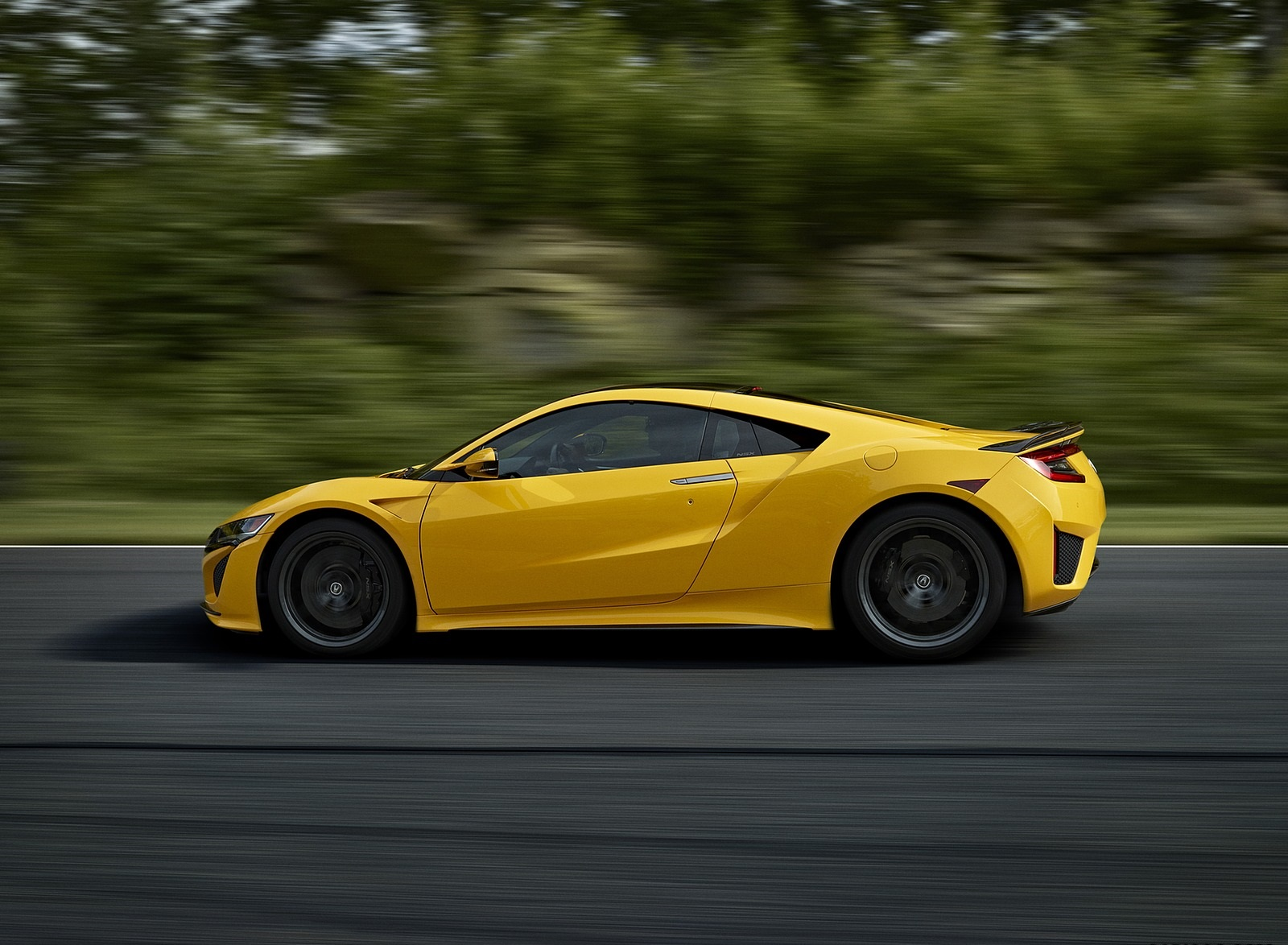 2020 Acura NSX (Color: Indy Yellow Pearl) Side Wallpapers (8)