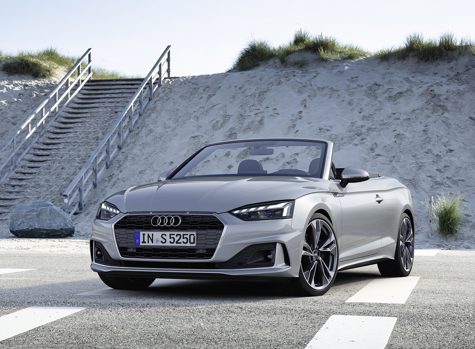 2020 Audi A5 Cabriolet (Color: Florett Silver) Front Three-Quarter Wallpapers (7)