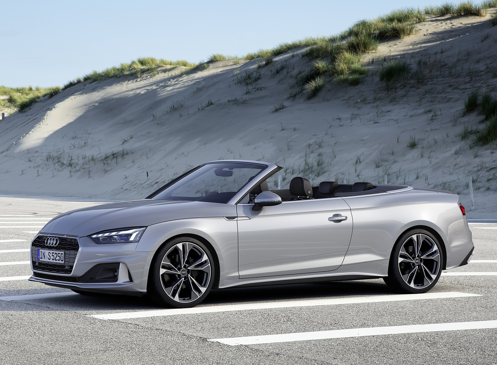 2020 Audi A5 Cabriolet (Color: Florett Silver) Front Three-Quarter Wallpapers (8)