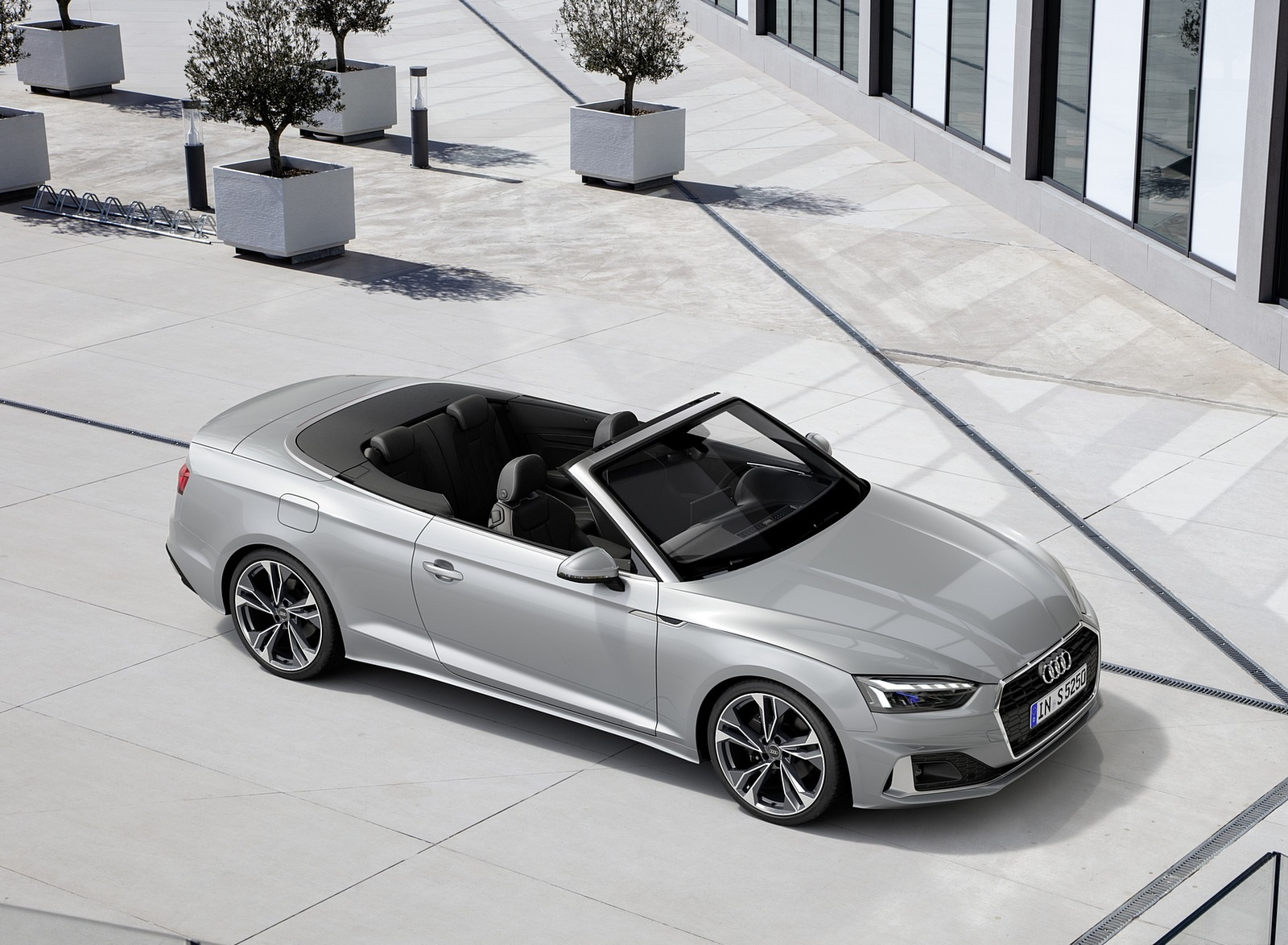 2020 Audi A5 Cabriolet (Color: Florett Silver) Front Three-Quarter Wallpapers (9)