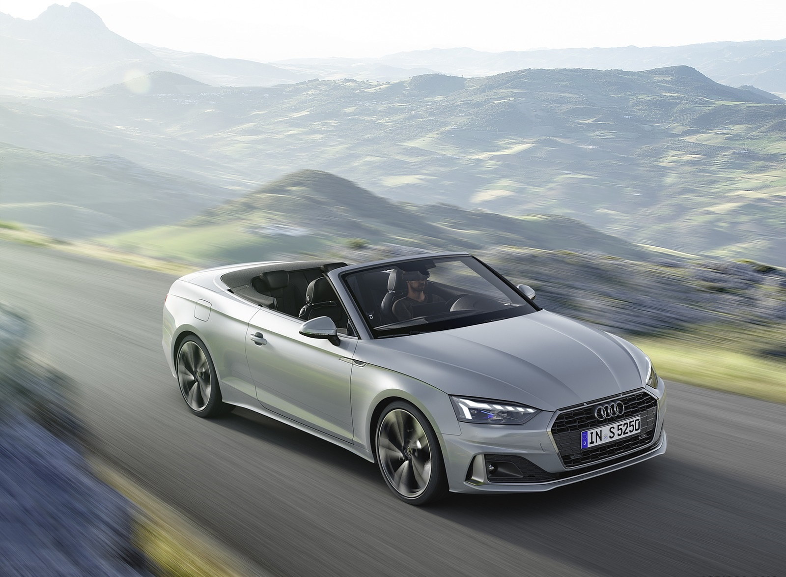 2020 Audi A5 Cabriolet (Color: Florett Silver) Front Three-Quarter Wallpapers (2)