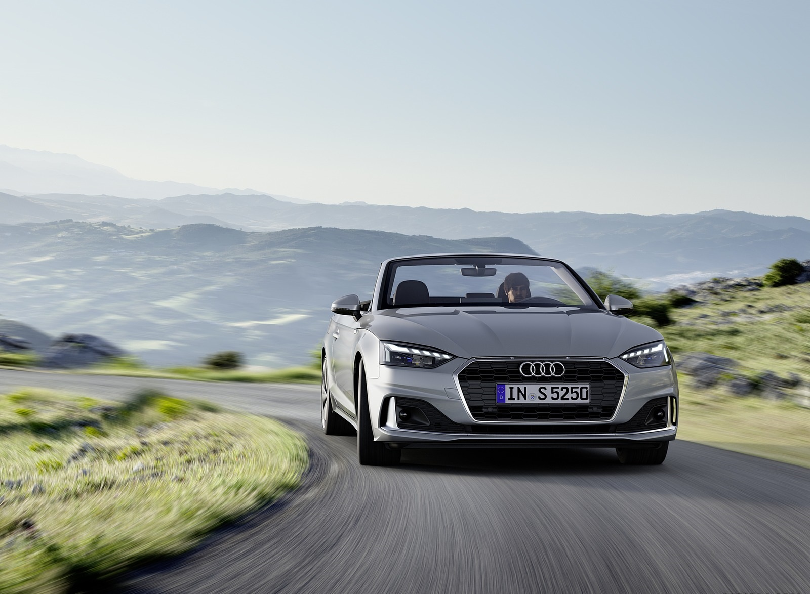 2020 Audi A5 Cabriolet (Color: Florett Silver) Front Wallpapers (1)