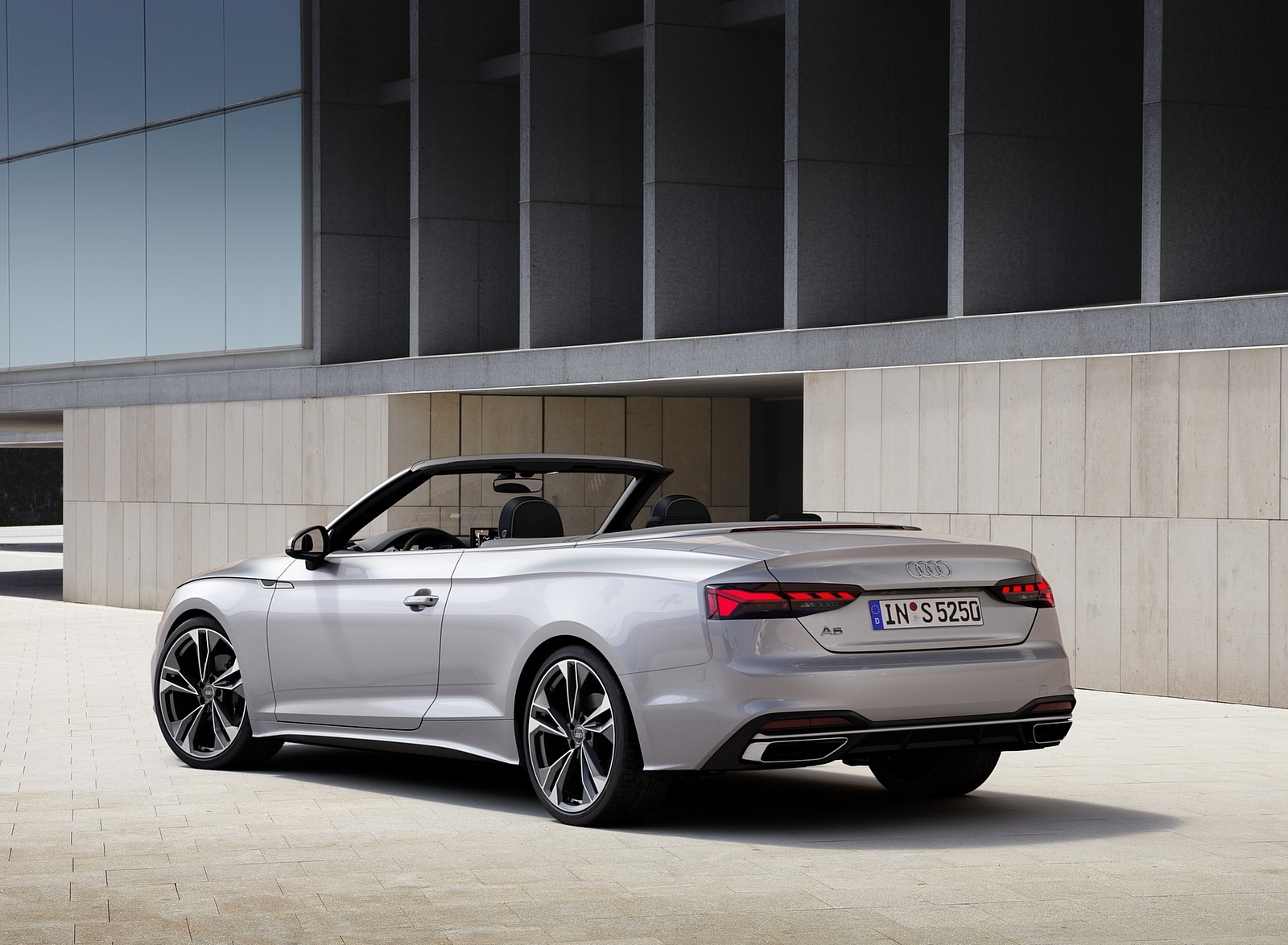 2020 Audi A5 Cabriolet (Color: Florett Silver) Rear Three-Quarter Wallpapers (10)