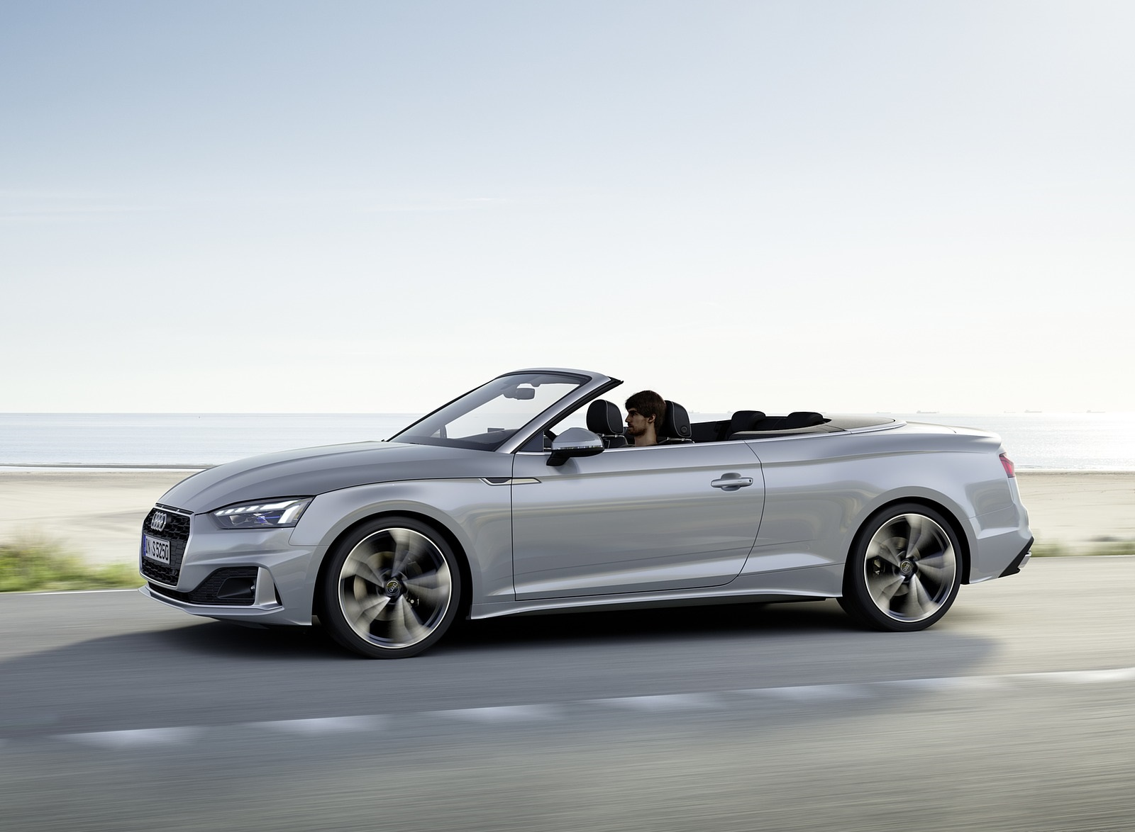 2020 Audi A5 Cabriolet (Color: Florett Silver) Side Wallpapers (4)