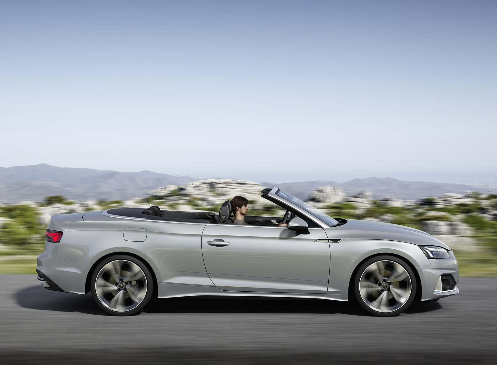 2020 Audi A5 Cabriolet (Color: Florett Silver) Side Wallpapers (5)