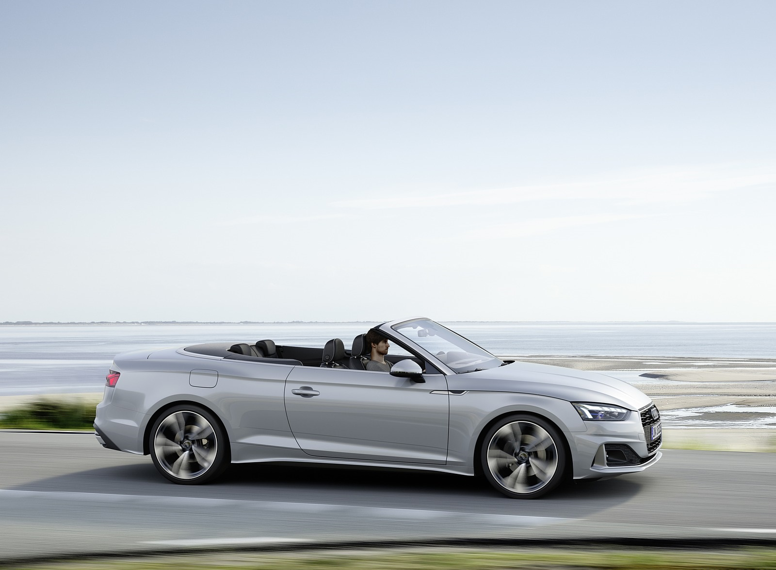 2020 Audi A5 Cabriolet (Color: Florett Silver) Side Wallpapers (6)