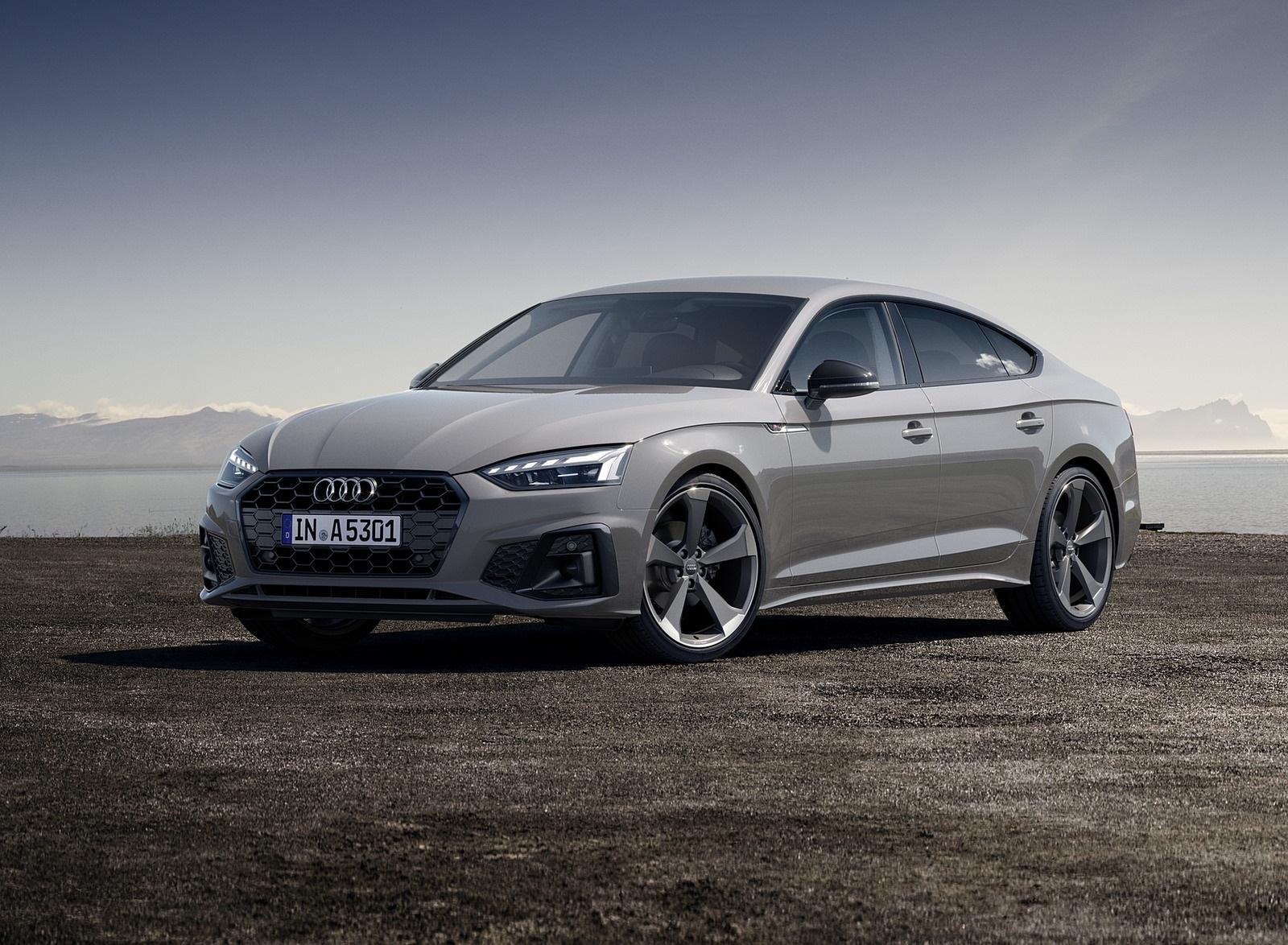 2020 Audi A5 Sportback (Color: Quantum Gray) Front Three-Quarter Wallpapers (6)