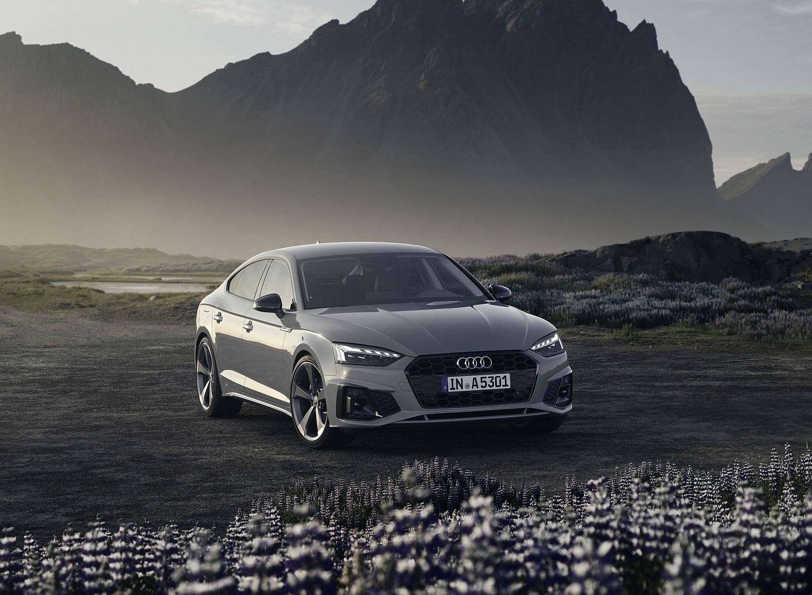 2020 Audi A5 Sportback (Color: Quantum Gray) Front Three-Quarter Wallpapers (7)