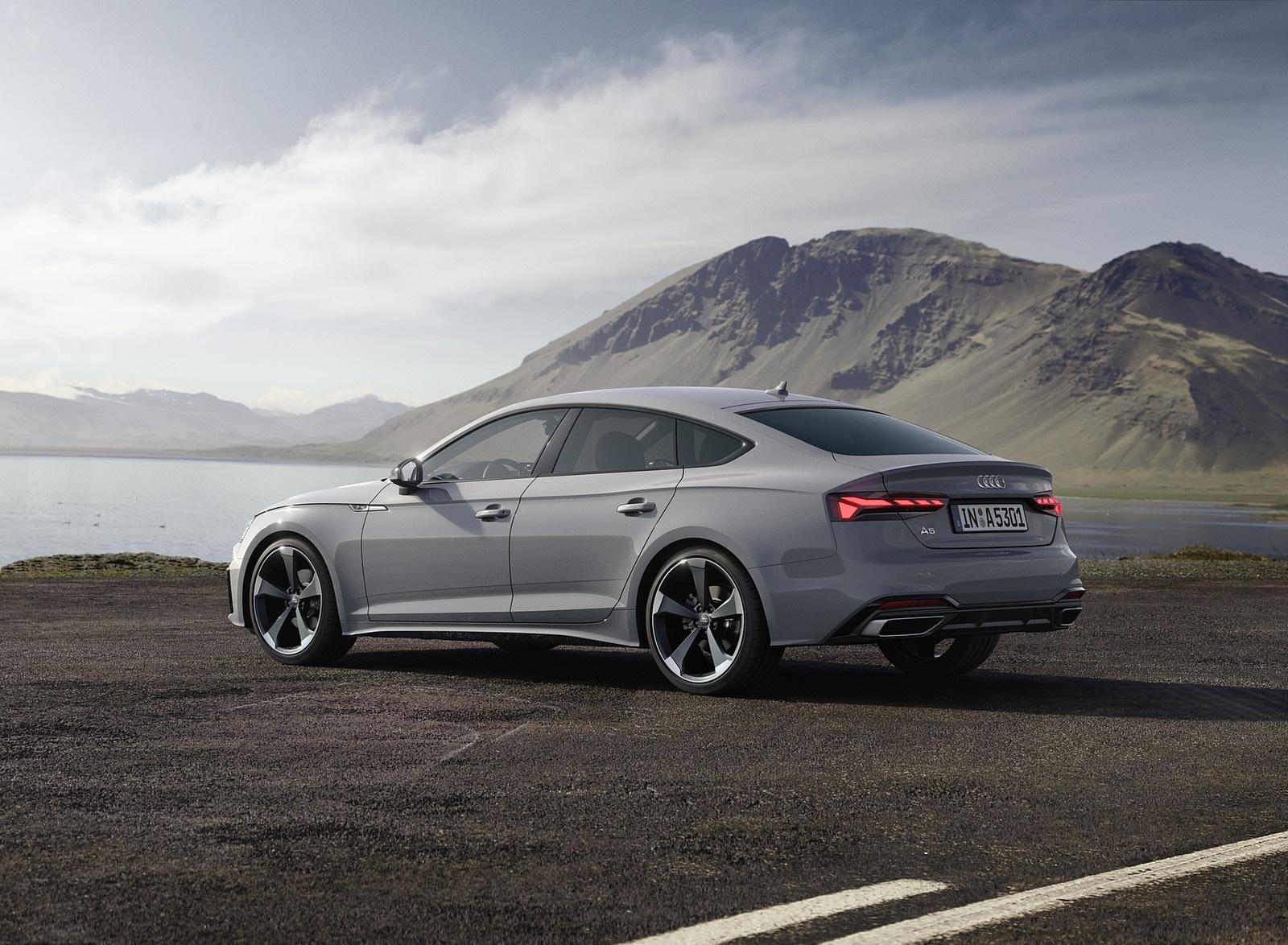 2020 Audi A5 Sportback (Color: Quantum Gray) Rear Three-Quarter Wallpapers (9)