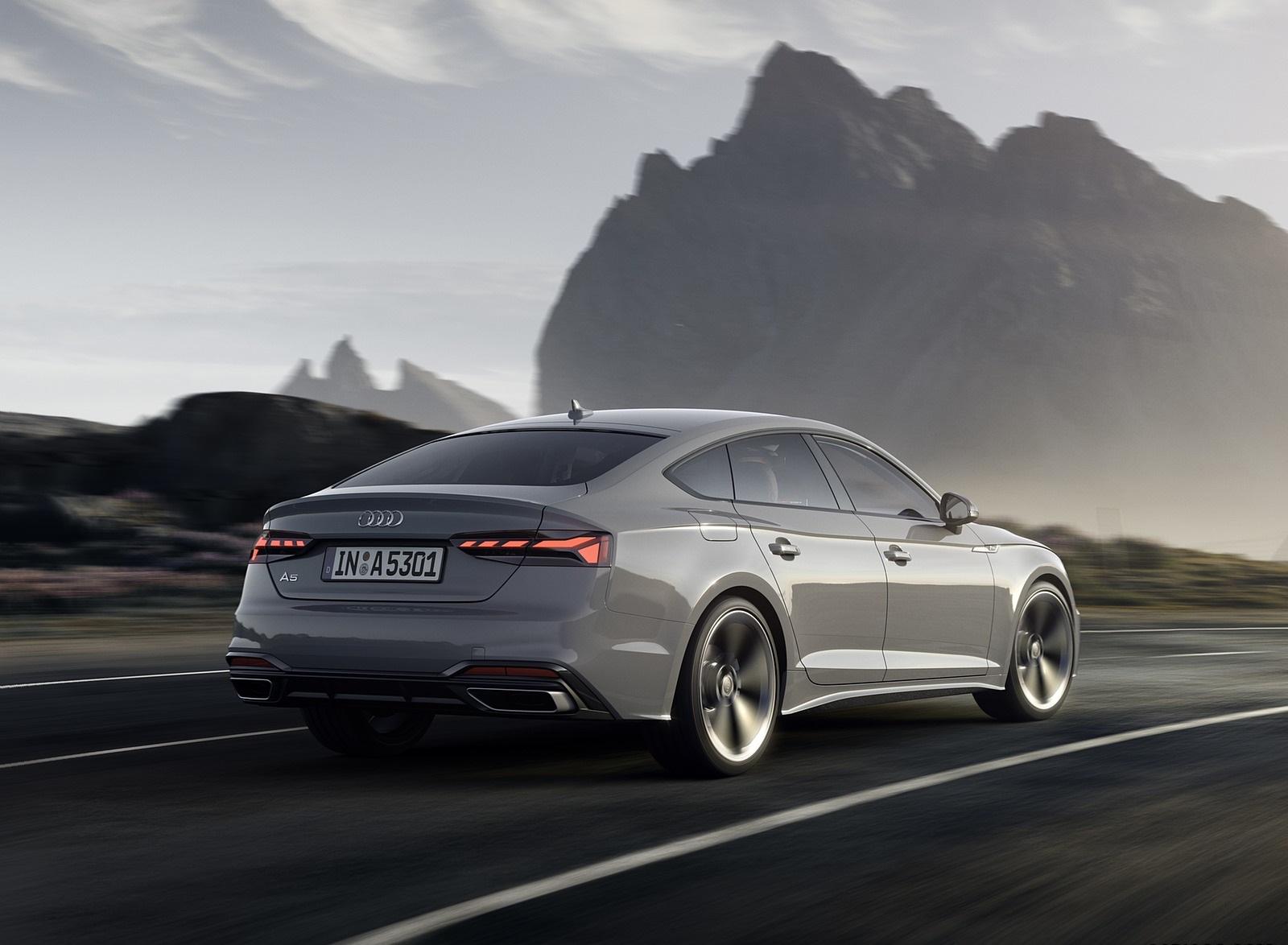 2020 Audi A5 Sportback (Color: Quantum Gray) Rear Three-Quarter Wallpapers (3)