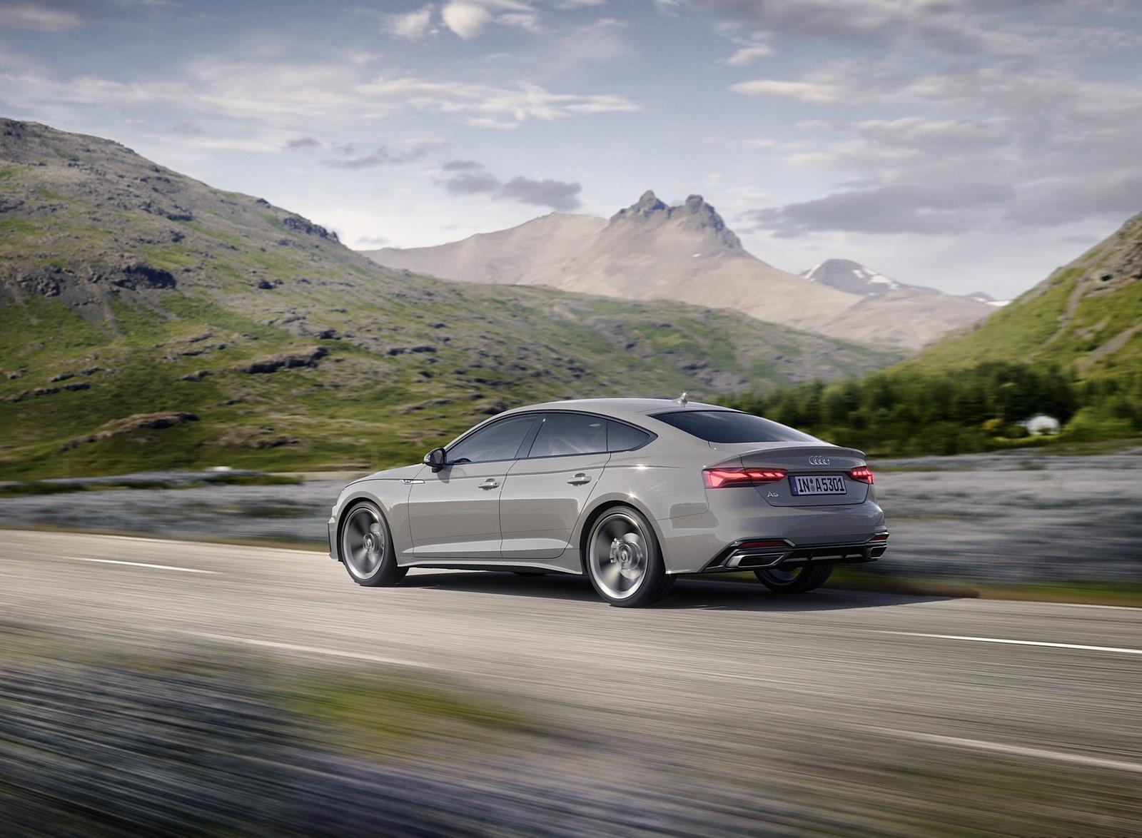 2020 Audi A5 Sportback (Color: Quantum Gray) Rear Three-Quarter Wallpapers (4)