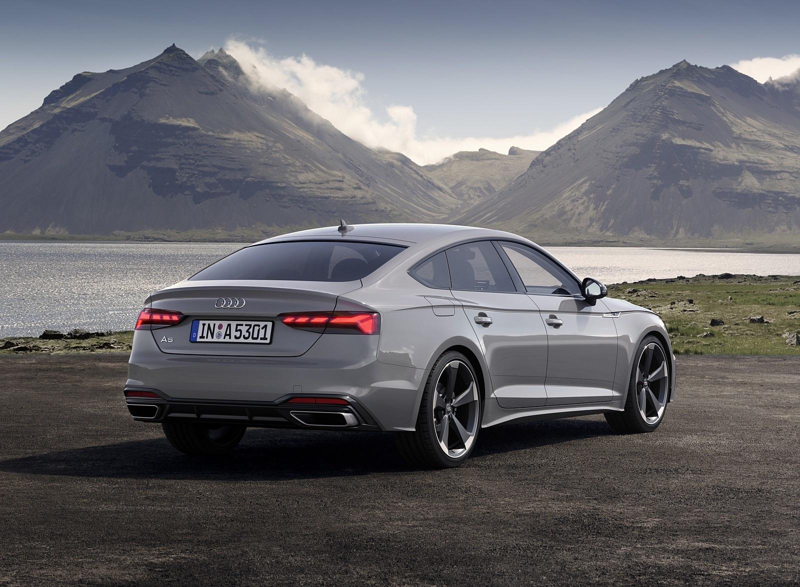2020 Audi A5 Sportback (Color: Quantum Gray) Rear Three-Quarter Wallpapers (10)