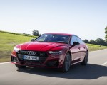 2020 Audi A7 Sportback 55 TFSI e quattro Plug-In Hybrid (Color: Tango Red) Front Three-Quarter Wallpapers 150x120 (1)