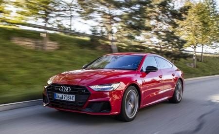 2020 Audi A7 Sportback 55 TFSI e quattro Plug-In Hybrid (Color: Tango Red) Front Three-Quarter Wallpapers 450x275 (12)