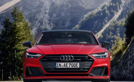 2020 Audi A7 Sportback 55 TFSI e quattro (Plug-In Hybrid Color: Tango Red) Front Wallpapers 450x275 (69)