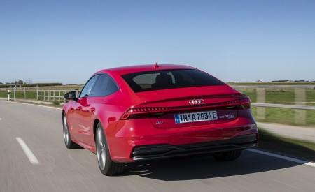 2020 Audi A7 Sportback 55 TFSI e quattro Plug-In Hybrid (Color: Tango Red) Rear Wallpapers 450x275 (7)