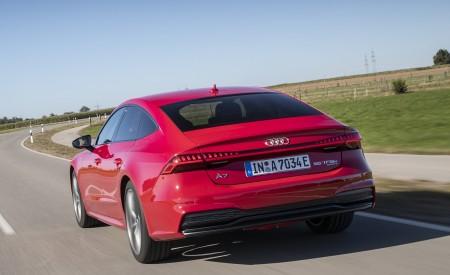 2020 Audi A7 Sportback 55 TFSI e quattro Plug-In Hybrid (Color: Tango Red) Rear Wallpapers 450x275 (9)
