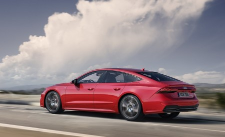 2020 Audi A7 Sportback 55 TFSI e quattro (Plug-In Hybrid Color: Tango Red) Side Wallpapers 450x275 (64)
