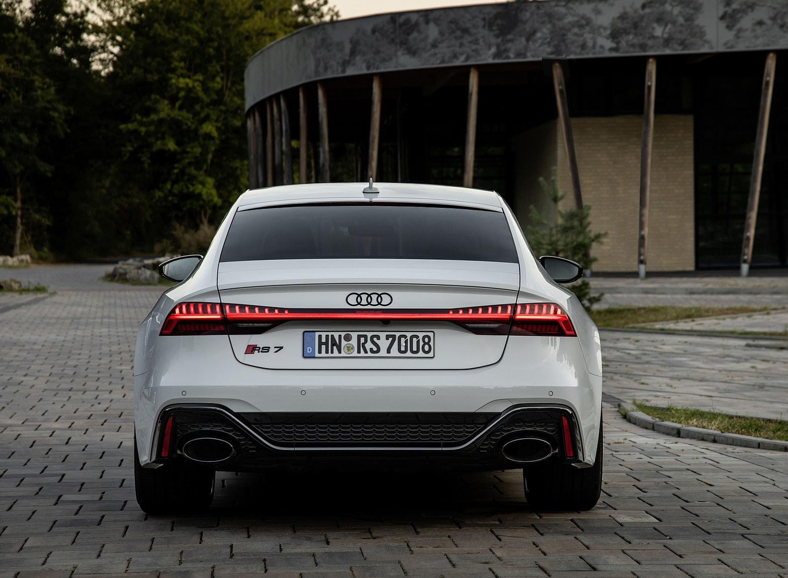 2020 Audi Rs 7 Sportback Color Glacier White Rear Wallpapers 32 Newcarcars