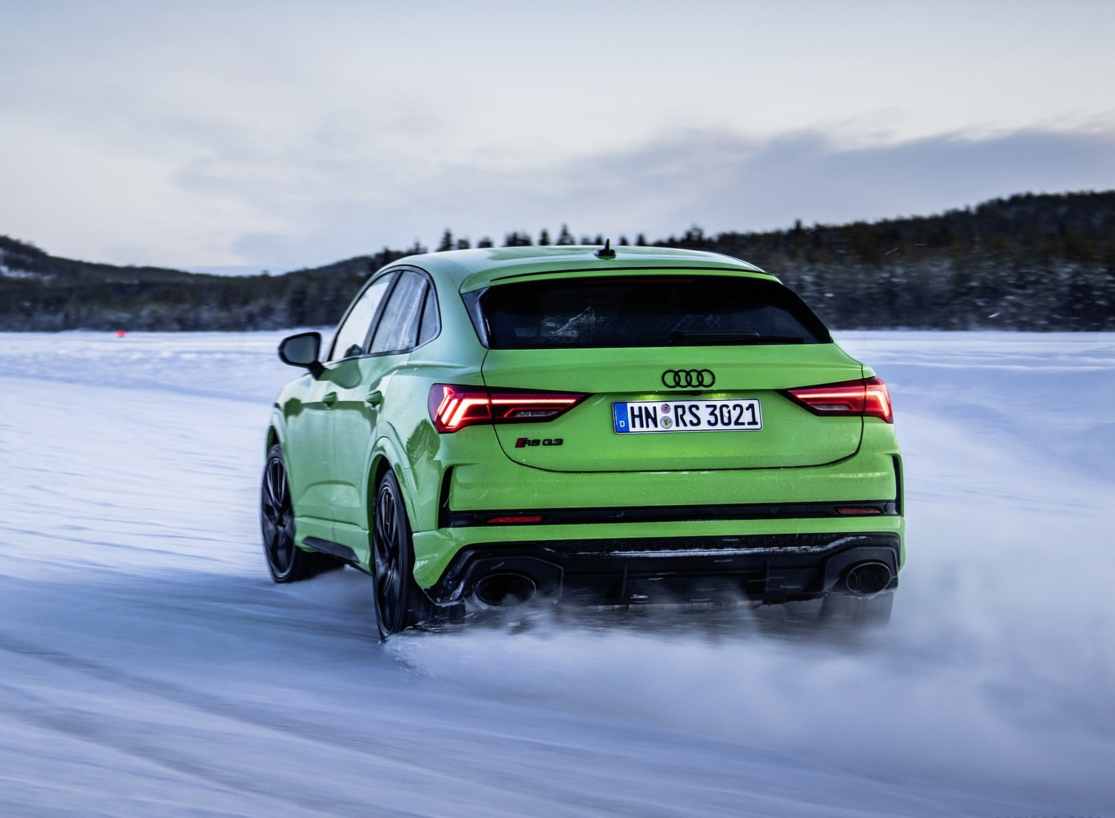 2020 Audi Rs Q3 Sportback Color Kyalami Green Rear Wallpapers 35 Newcarcars