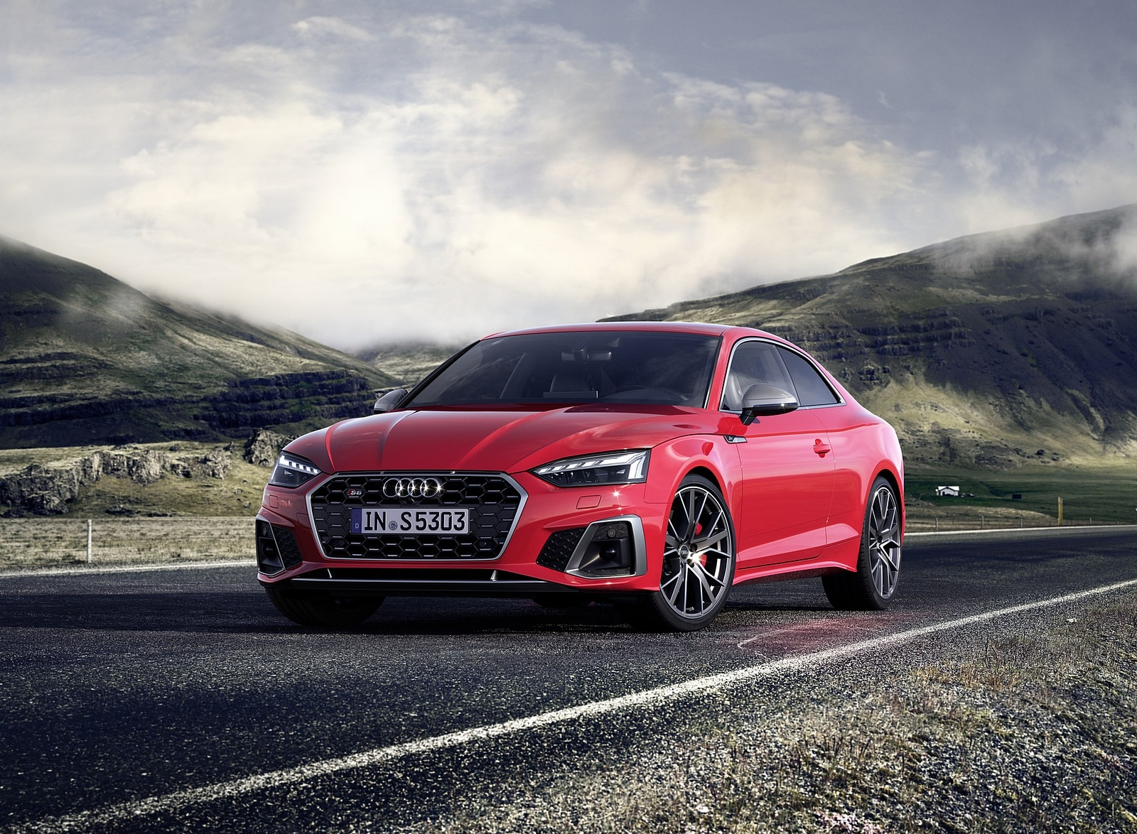 2020 Audi S5 Coupe TDI (Color: Tango Red) Front Three-Quarter Wallpapers (5)