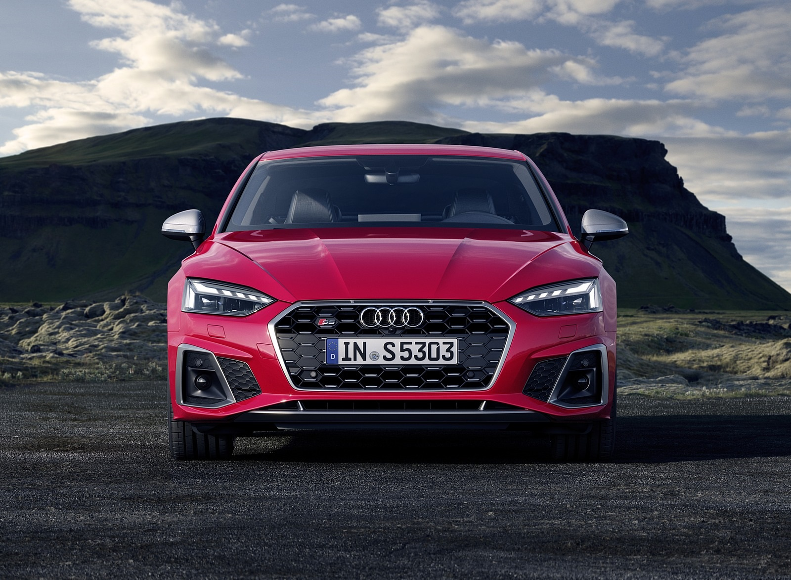 2020 Audi S5 Coupe TDI (Color: Tango Red) Front Wallpapers (7)