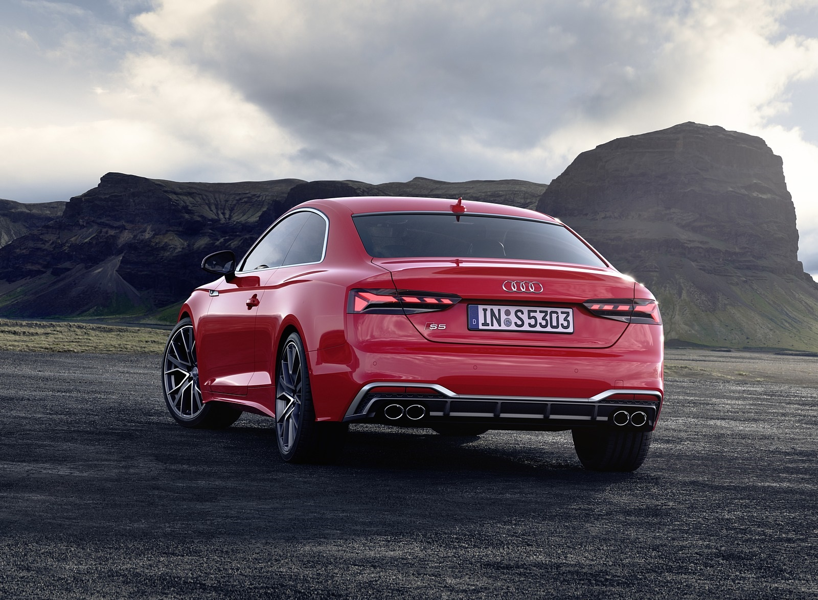 2020 Audi S5 Coupe TDI (Color: Tango Red) Rear Wallpapers (8)